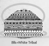 Black and white tribal