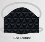 Geo texture black facemasks
