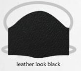 Leather look black facemasks