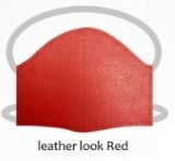 Leather look red facemasks
