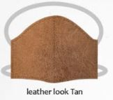 Leather look tan facemasks