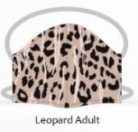 Leopard adult facemasks
