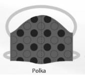 Polka facemasks