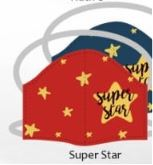 Super star facemasks