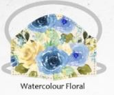 Watercolour floral facemasks